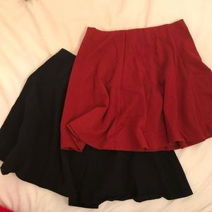 Bundle✨Black and red forever 21 skater skirt
